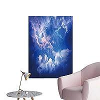 SeptSonne ウォールデカール 宇宙の爆発 バックグラーン ミックス メディア 環境保護 ビニール 28 x 48inch(70x120cm)/1pc