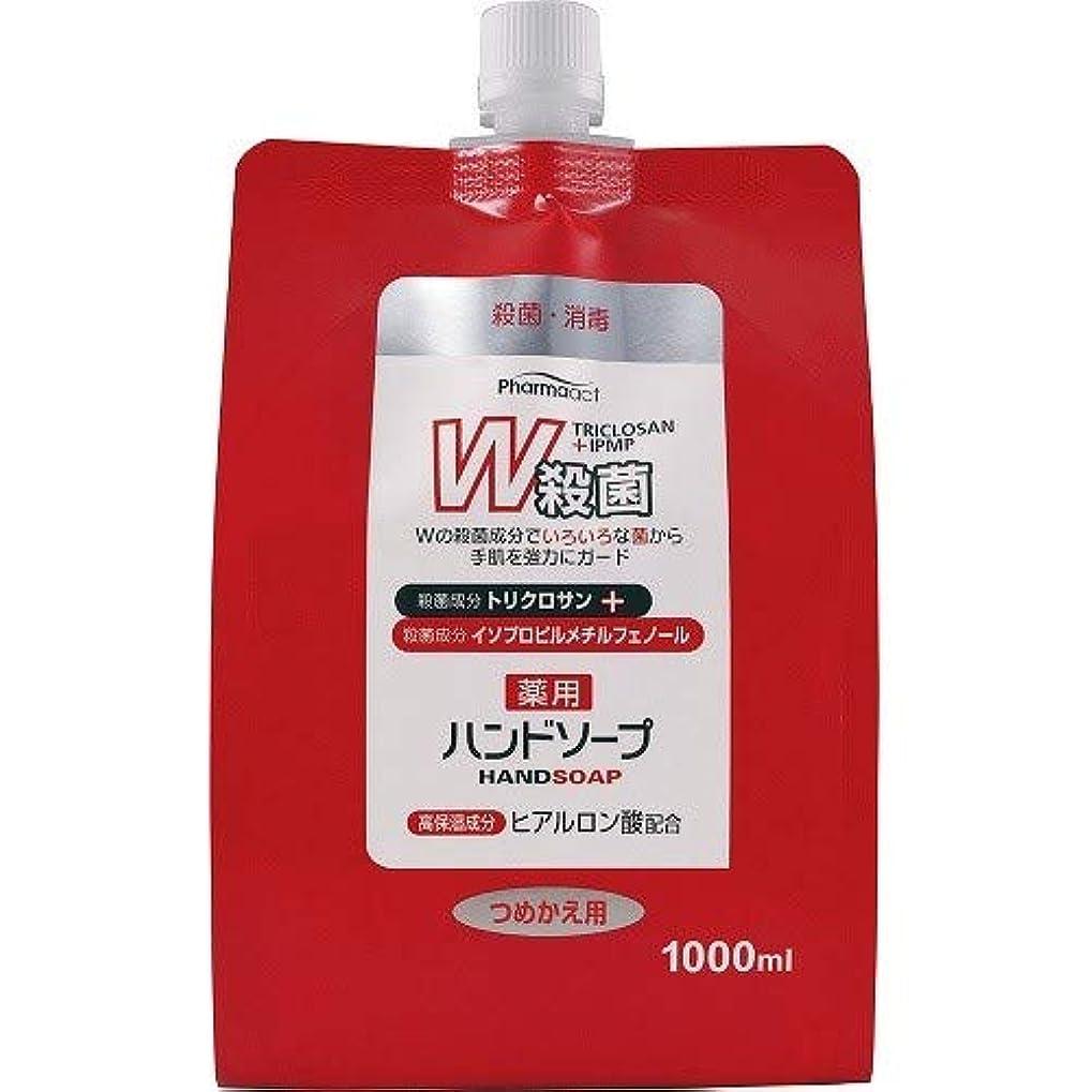 汗仕える列車ファーマアクト W殺菌薬用ハンドソープ スパウト付き詰替 1000ml