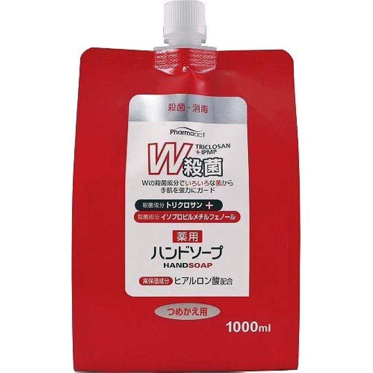 受粉するにぎやか浅いファーマアクト W殺菌薬用ハンドソープ スパウト付き詰替 1000ml