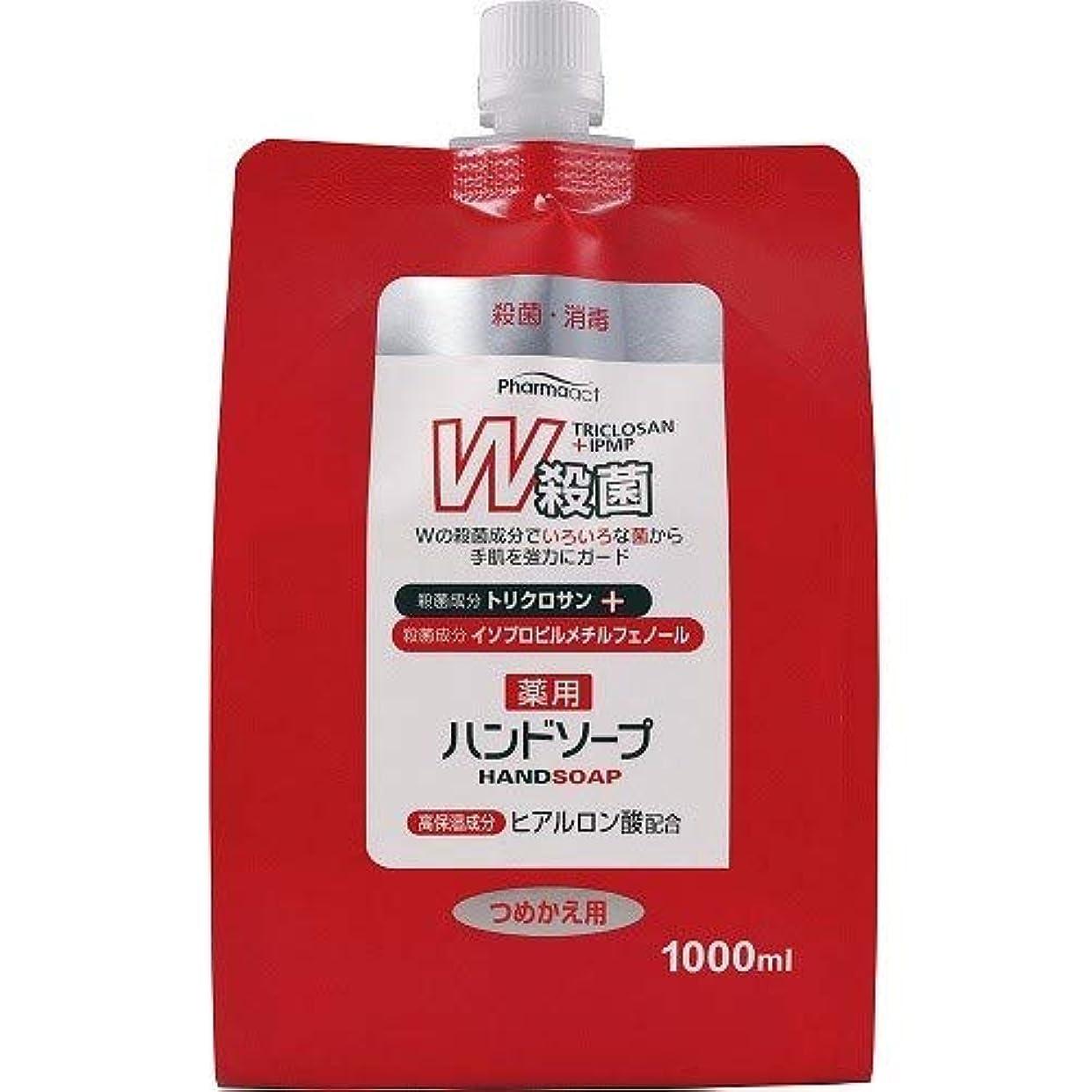 フレット季節約ファーマアクト W殺菌薬用ハンドソープ スパウト付き詰替 1000ml