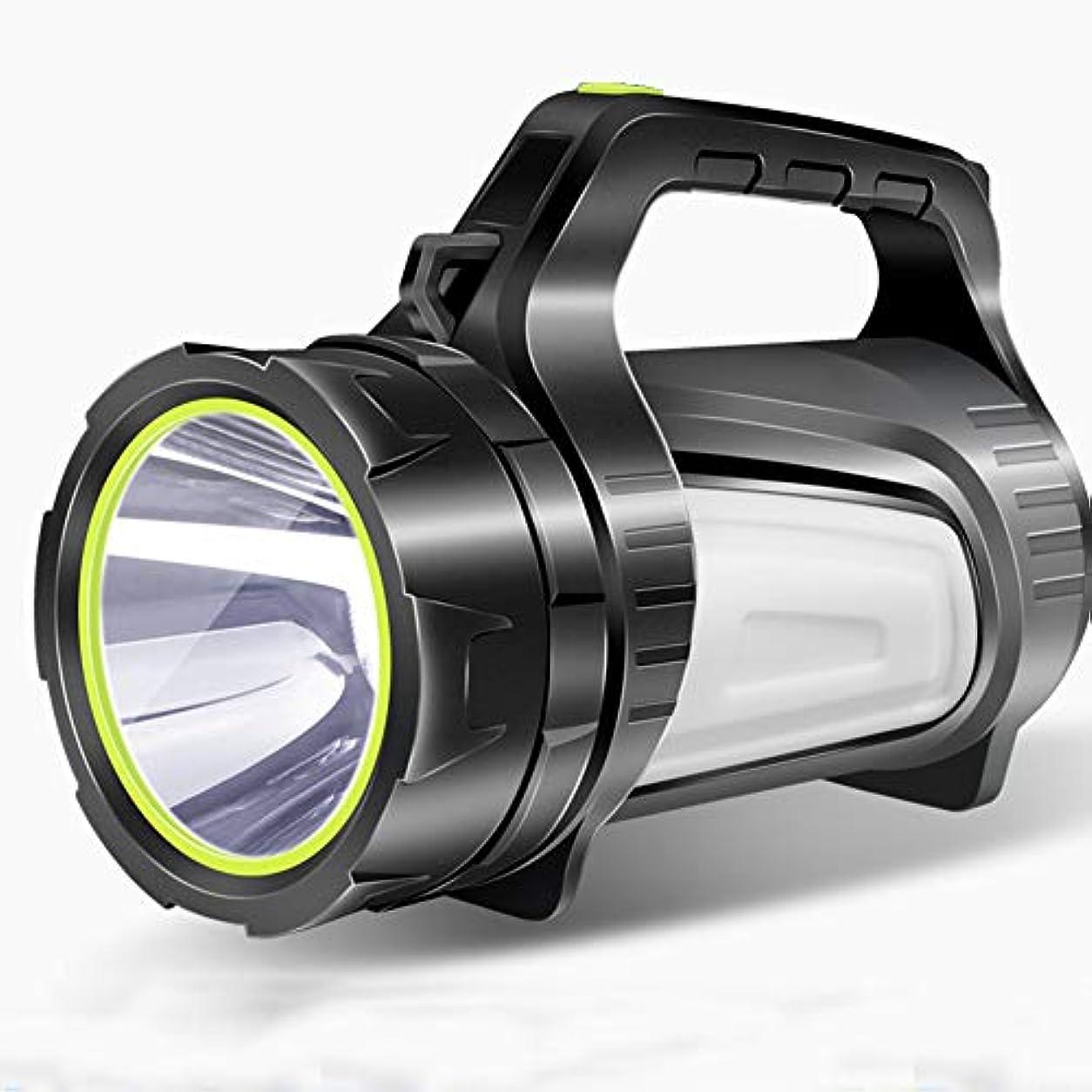挑む鎖結論懐中電灯 屋外LEDサーチライト 3000メートルロングショットフィッシングライト 3500ルーメンの充電式ポータブルライト 多機能屋外キャンプライト 寿命10?48時間