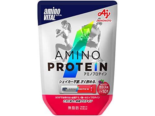 アミノバイタル アミノプロテイン カシス味 1袋 10本 味の素 プロテイン
