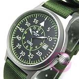 Aeromatic 1912(エアロマティック 1912) A1354 レトロパイロット 自動巻き ナイロンベルト ドイツミリタリー メンズウォッチ 腕時計[並行輸入品]