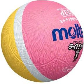 molten(モルテン) ドッジボール ライトドッジ 軽量1号球 ピンク×黄 SLD1PL