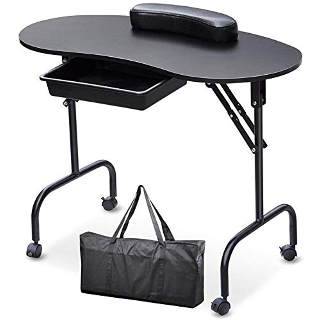 手綱絶縁する気体のマニキュア卓上ネイルテーブルネイル技術者デスクワークステーションwithbagリストレストネイルアートビューティーサロン家具