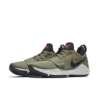 """(ナイキ) Nike シューズ ポール ジョージPG 1 """"Elements"""" C.Khaki/Blk/T.Org バスケットボール [並行輸入品] 27"""