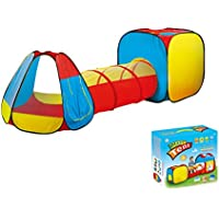 Kids Play Tent with Tunnel for Indoor and Outdoor Use- Extra Large Size by Kid Party Toys