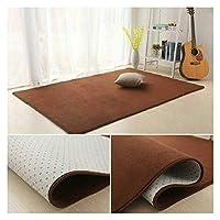 リビングマットシャギーラグカーペットの床保護マットとし肌に優しい快適な足の感覚毛深いブレンド家庭、カスタマイズ可能 Lxhong (Color : Brown, Size : 50x80cm)