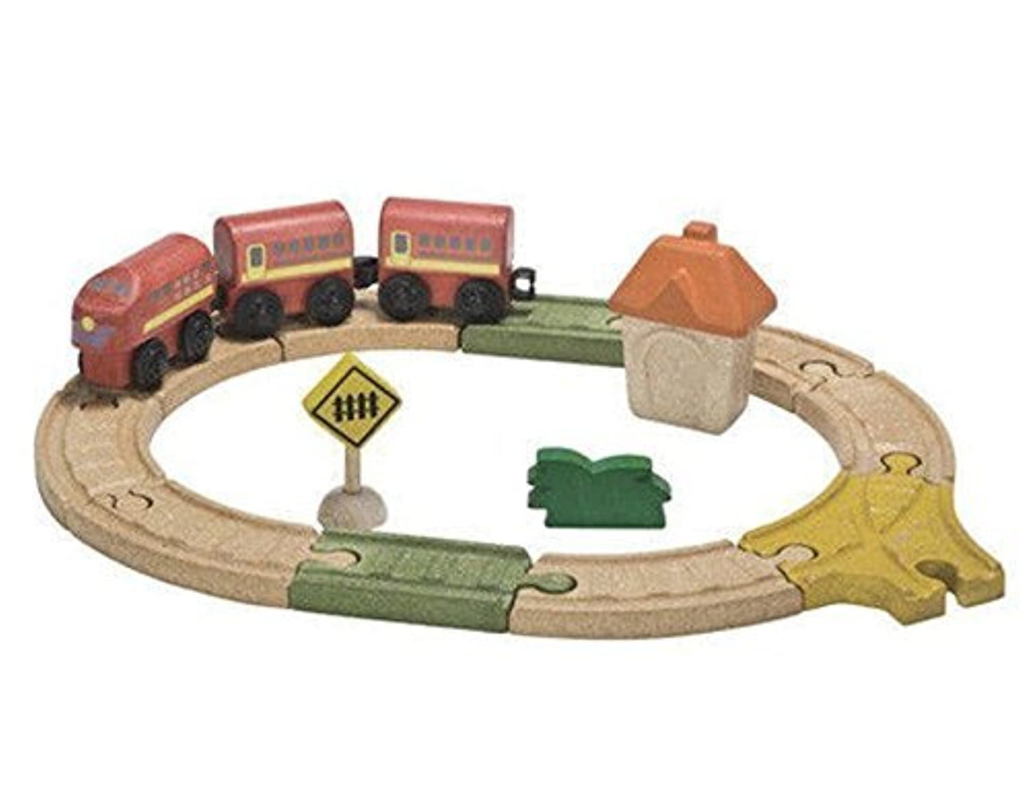 Plan Toys City Road and Rail Oval Railway [並行輸入品]