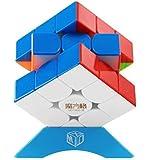 QiYi Thunderclap 3x3 V3 M マジックキューブ 魔方 磁石内蔵 【6面完成攻略書付き】立体パズル ポップ防止 (ステッカーレス)