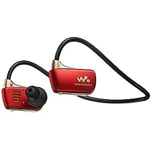 【海外仕様】 SONY ウォークマン Wシリーズ 4GB ヘッドホン一体型 防水タイプ Premium Red NWZ-W273S/RM