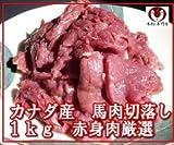馬刺し専門店の馬肉 切落し 1kg ※ペット赤身/ペットフード【天馬】 [その他]