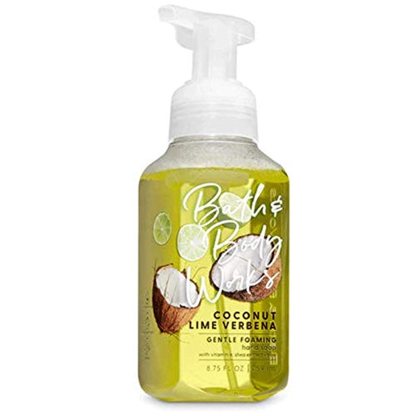 ねばねば魅力的であることへのアピールセットするバス&ボディワークス ココナッツライムバーベナ ジェントル フォーミング ハンドソープ Coconut Lime Verbena Gentle Foaming Hand Soap