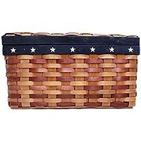 アメリカンフラッグ カントリー USA 籐 かご バスケット 収納 BOX ボックス