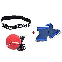 HLHBSXGZ 手袋でボクシングボールヘッドバンドトレーニングで反射ボールスピードトレーナーボールでボクセオボール