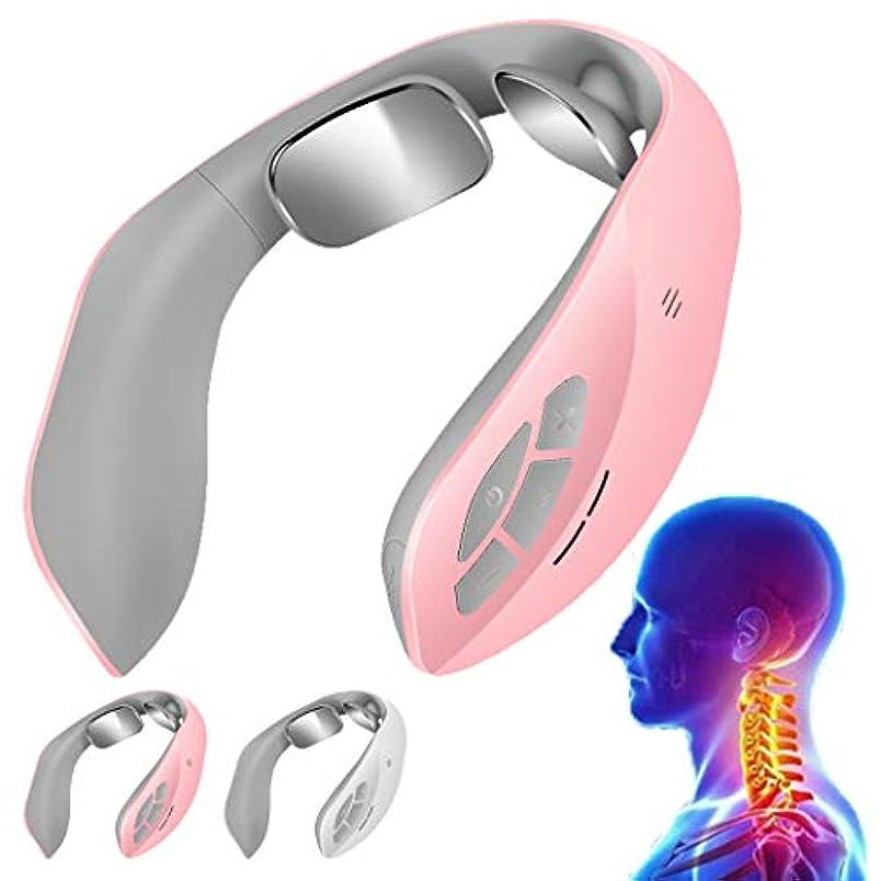 ギャンブル受け入れ大腿マッサージャー血のための遠隔首のマッサージャーの多機能の頚部マッサージ-Pink