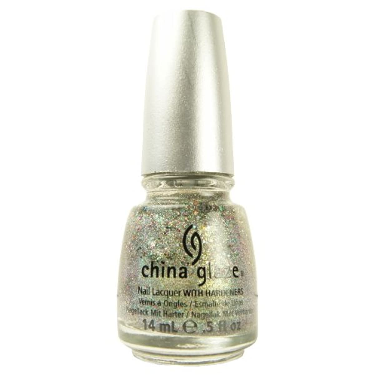 ハーフ広大な事務所(3 Pack) CHINA GLAZE Glitter Nail Lacquer with Nail Hardner - Ray-Diant (DC) (並行輸入品)