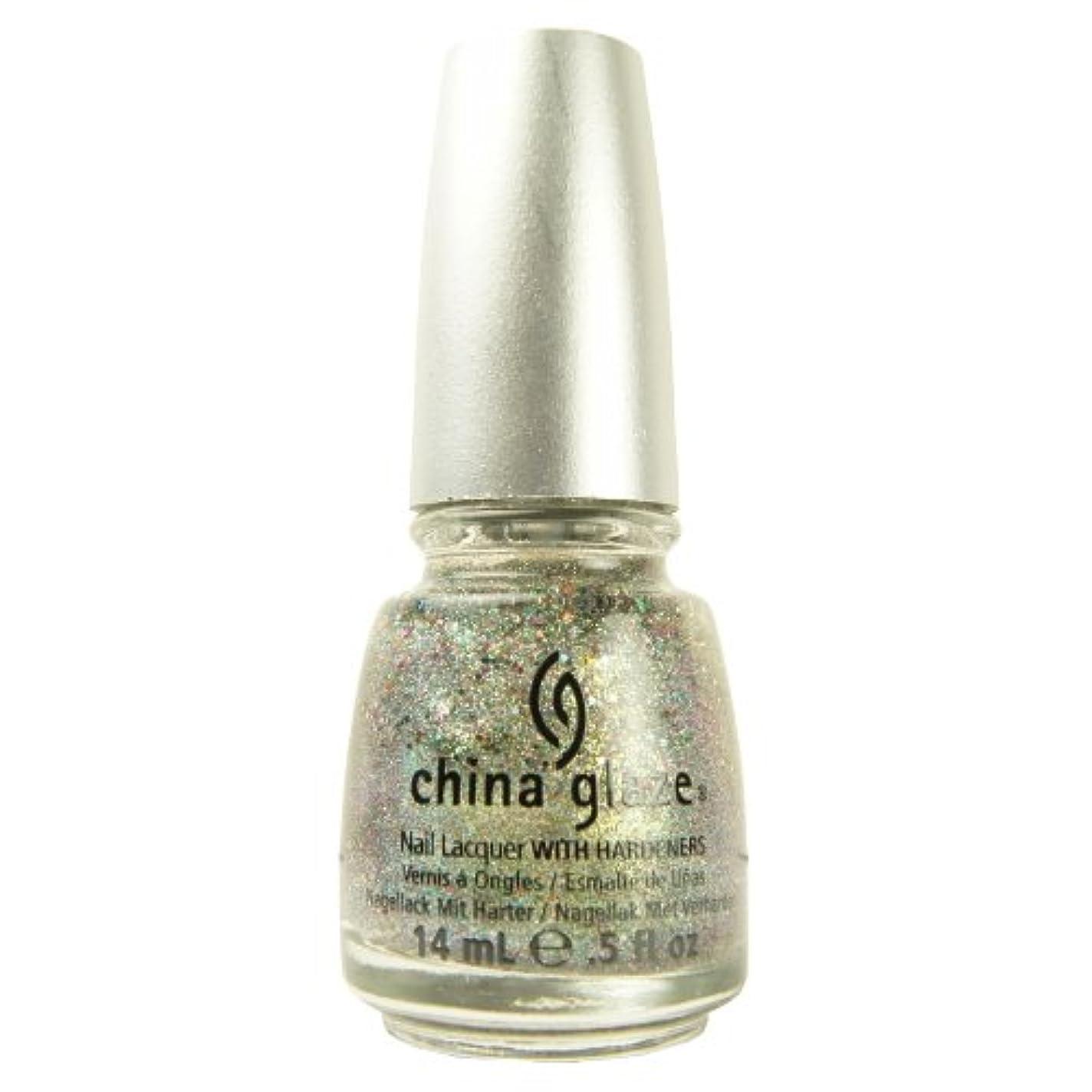 コック有名慣れる(3 Pack) CHINA GLAZE Glitter Nail Lacquer with Nail Hardner - Ray-Diant (DC) (並行輸入品)