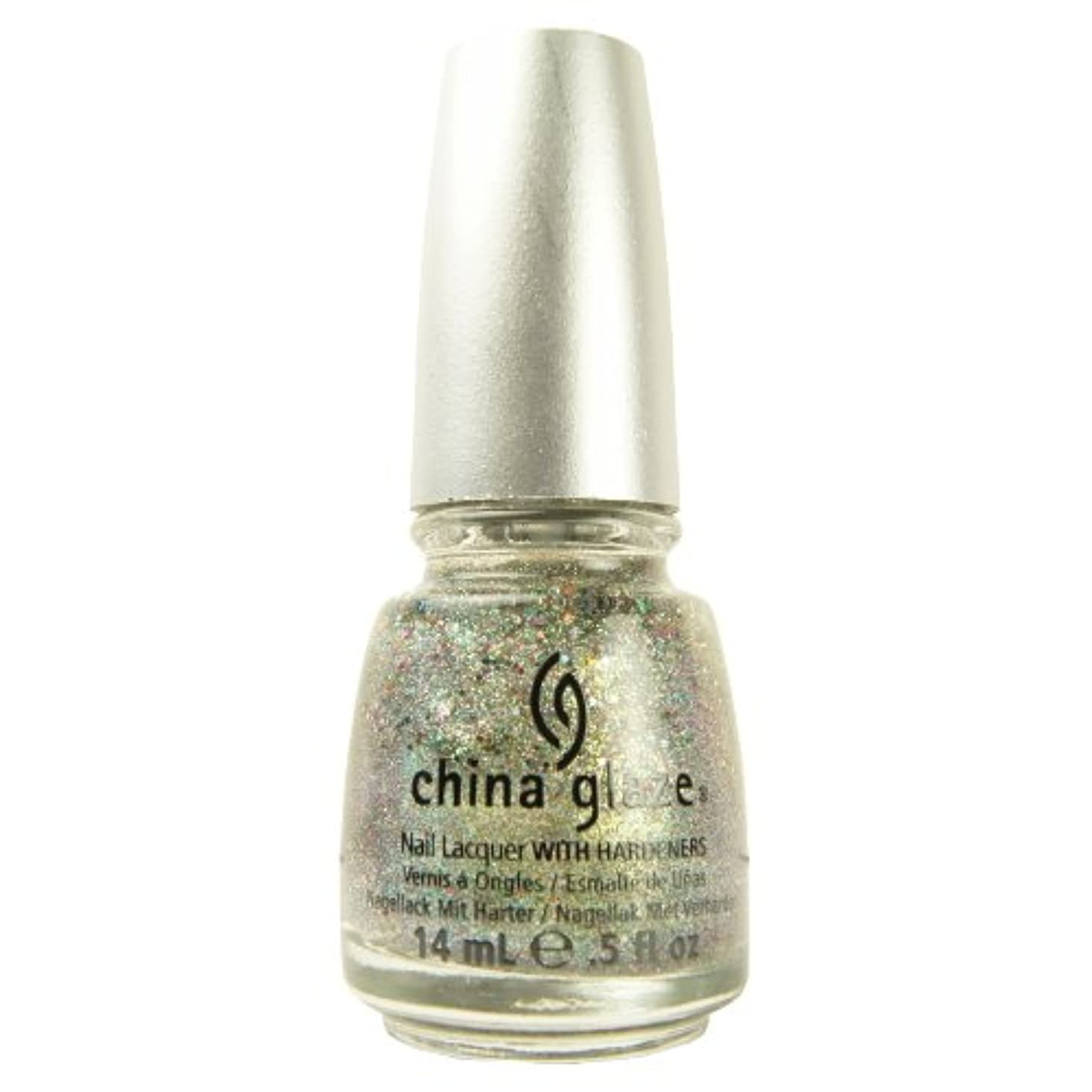 行き当たりばったり津波データ(3 Pack) CHINA GLAZE Glitter Nail Lacquer with Nail Hardner - Ray-Diant (DC) (並行輸入品)