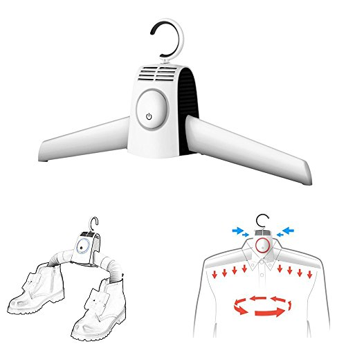 Pushingbest 衣服乾燥機 ハンガー 靴乾燥機 ハンガー型の乾燥機 小意気 急速乾燥 携帯可能 出張 休日の旅行
