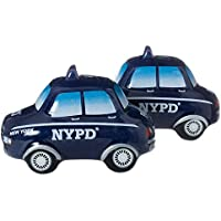 NYPD Salt and Pepper Shaker Set - Officially Licensed New York Police Department Gift by Artisan Owl