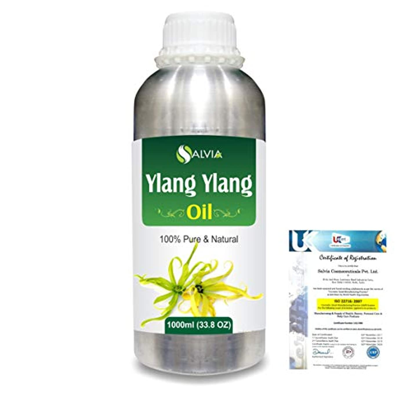 インレイ小屋動機付けるYlang Ylang (Cananga Odorata) 100% Natural Pure Essential Oil 1000ml/33.8fl.oz.