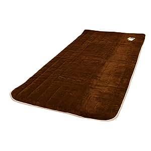 西川 マイクロファイバー 毛布 敷き パッド シングル ( 100×205cm ) ブラウン マシュマロちっくな肌触り 1枚 単品