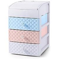 WTL かご?バスケット 家庭用プラスチック引き出し式引き出し式棚棚収納ラックデスクトップ化粧箱収納箱 (色 : Color mixing)