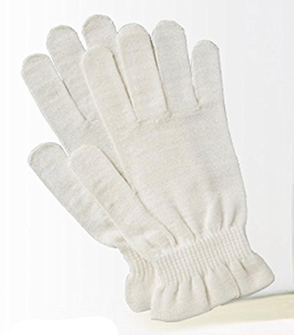 腕ガチョウ駅京都西陣の絹糸屋さんのシルク手袋