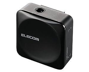 エレコム Bluetooth ブルートゥース レシーバー 音楽専用 iPhone android対応 1年間保証 ブラック LBT-C/PAR01AVBK