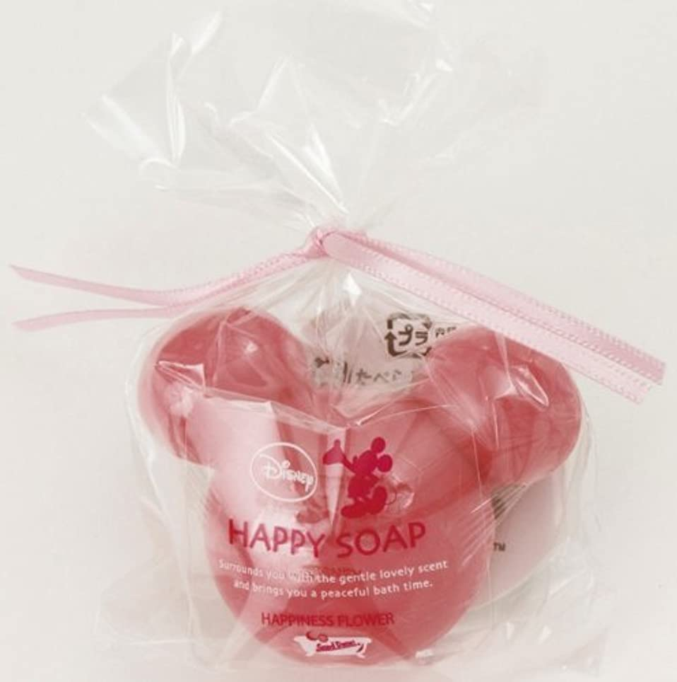 美的砂利豊かにするミッキーマウスとバスタイム?ハッピーソープのプチギフト ディープピンク(ローズの香り)【結婚式 ホワイトデー 記念品】