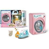 Mimi World Playing Laundry-Drum type washing machine ドラム式洗濯機、アイロン、噴霧器を含むロールプレイセット +Rubystone Cell Phone Ring(海外直送)