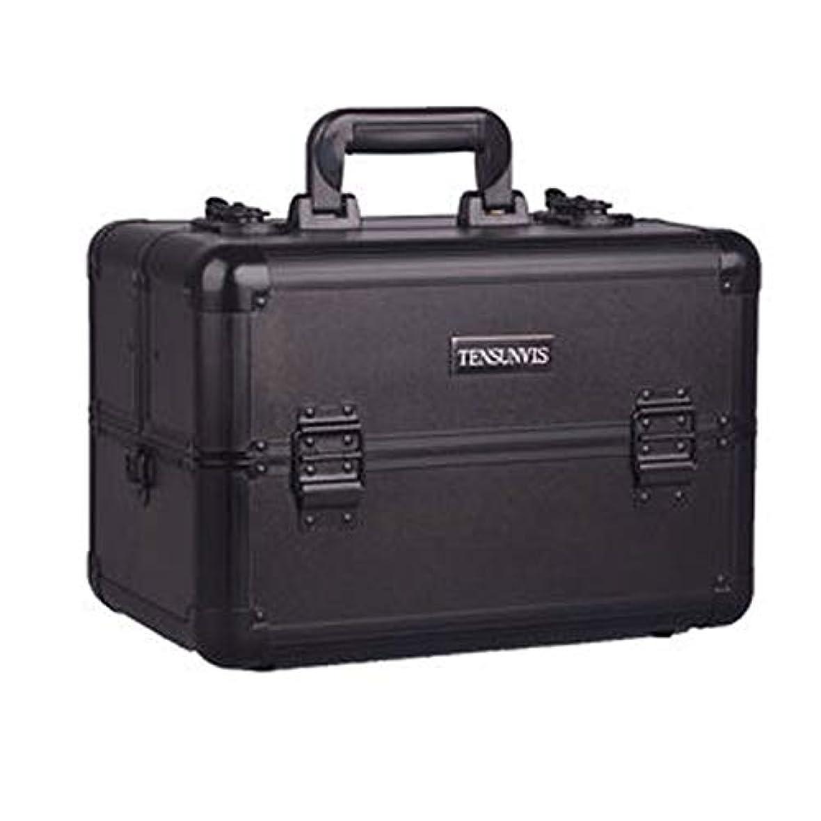 談話操作成熟プロ専用 メイクボックス ブラック ヘアメイク プロ 大容量 軽量 高品質 多機能 I-HT-405AB