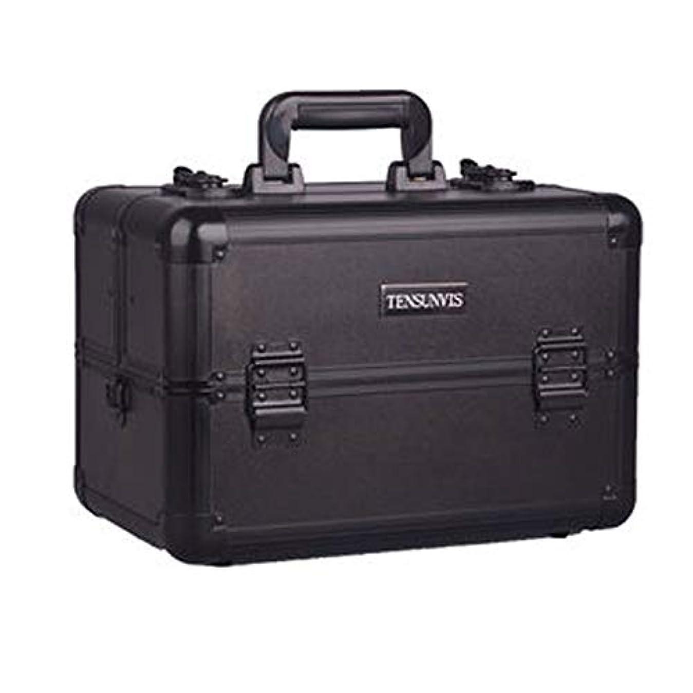 呼吸する運営カイウスプロ専用 メイクボックス ブラック ヘアメイク プロ 大容量 軽量 高品質 多機能 I-HT-405AB