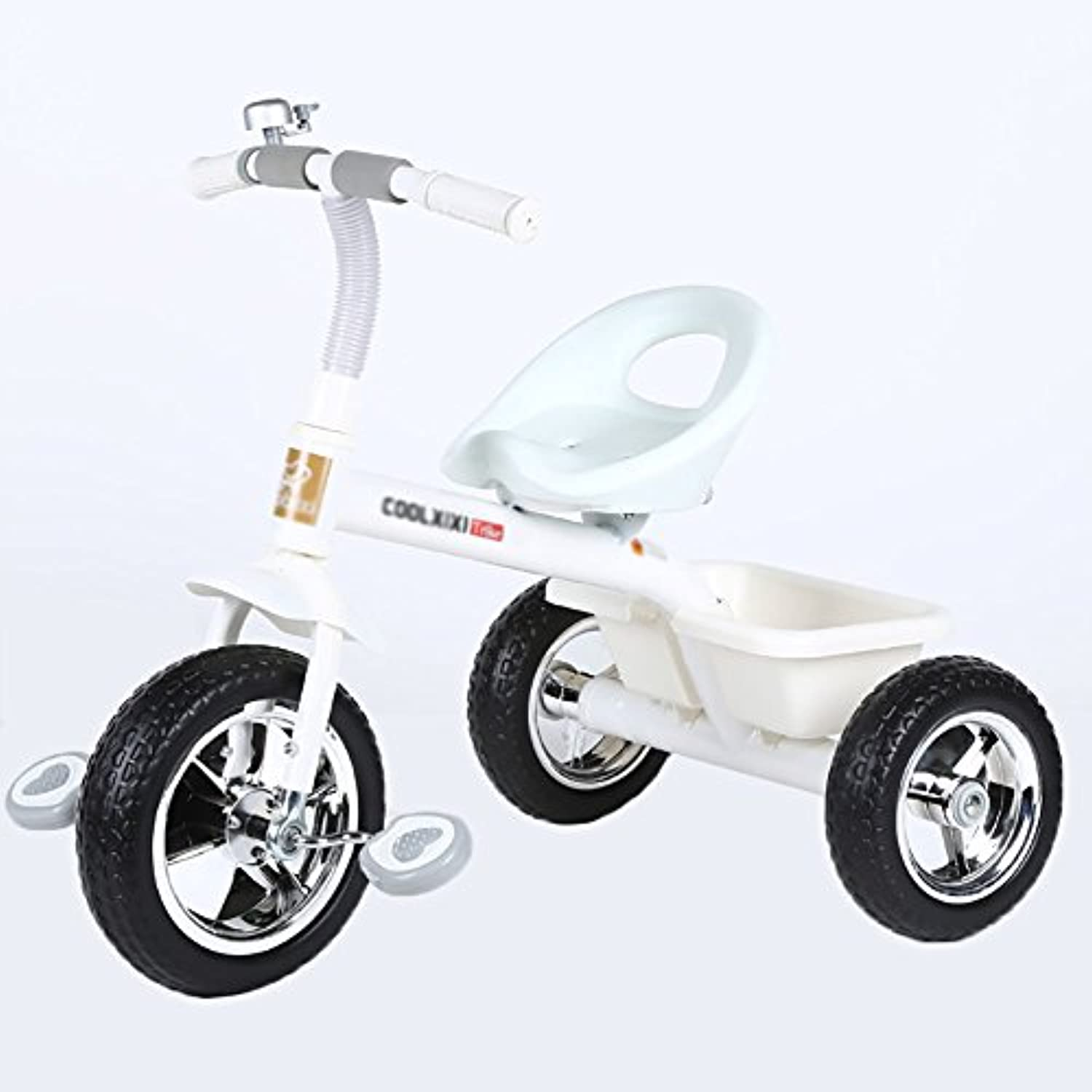 Tricycle Preschoolバイク子供の自転車ベビーCarriage Toy Car 2 – 3 - 5 Years Old ホワイト