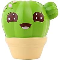 応力Reliever玩具、sacow Cartoon Cactus Squishy Toy Slow Rising Vent Toysクリーム香りつきDecompression Toys