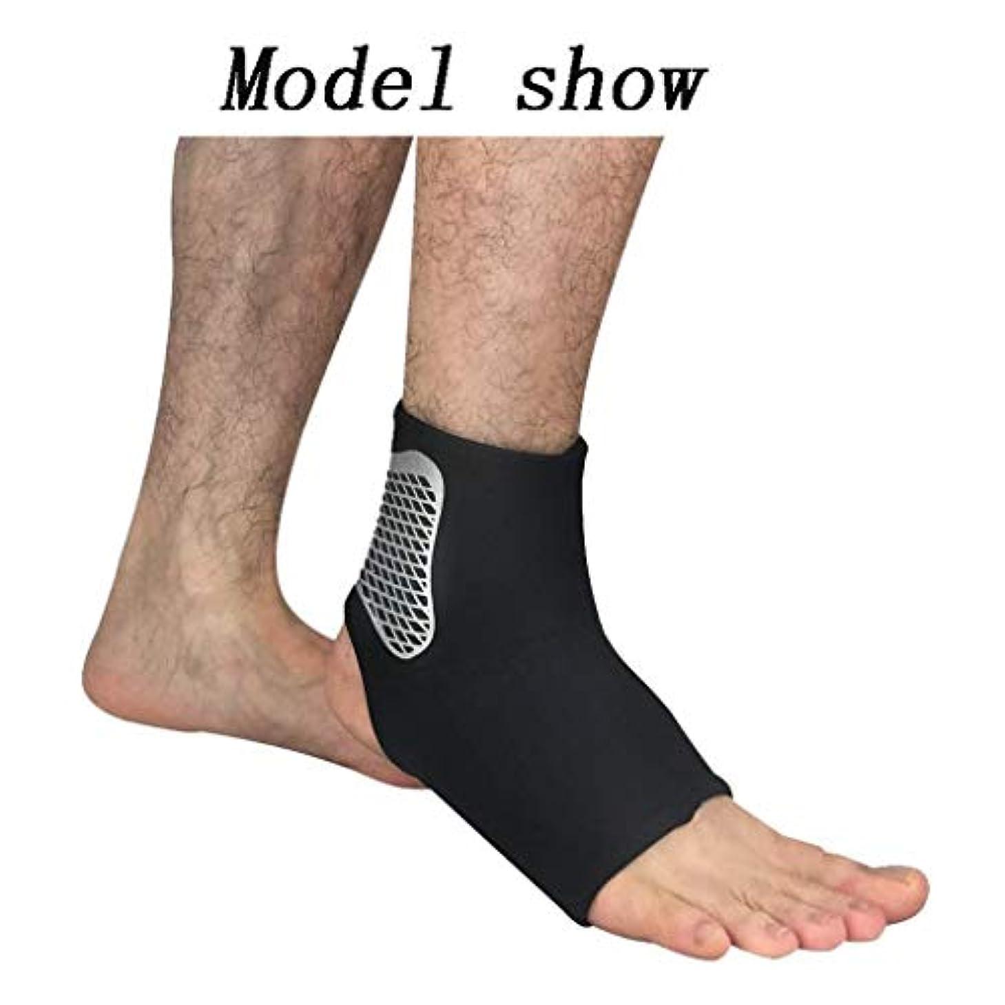 販売員パイロット絡まる足首のサポート、通気性と伸縮性のあるナイロン素材を使用した1組の足首固定具、快適な足首ラップスポーツが慢性的な足首の捻Sp疲労を防ぎます (Size : S)
