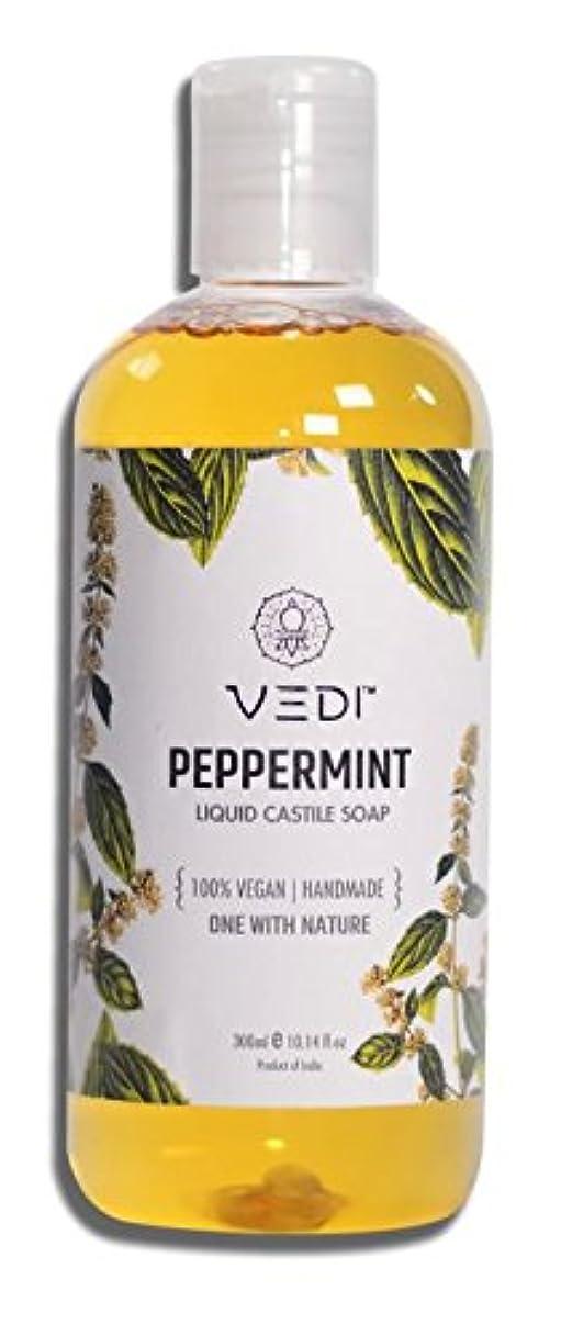 褐色どこかヒープPEPPERMINT LIQUID CASTILE SOAP (300ml)