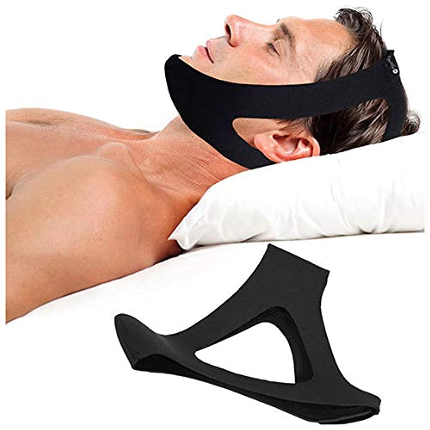 適度にデンプシーかろうじてアンチいびきあごストラップ停止いびきいびきベルト睡眠時無呼吸あごサポートストラップ女性男性ナイト睡眠補助ツールフェイスリフトツール,A
