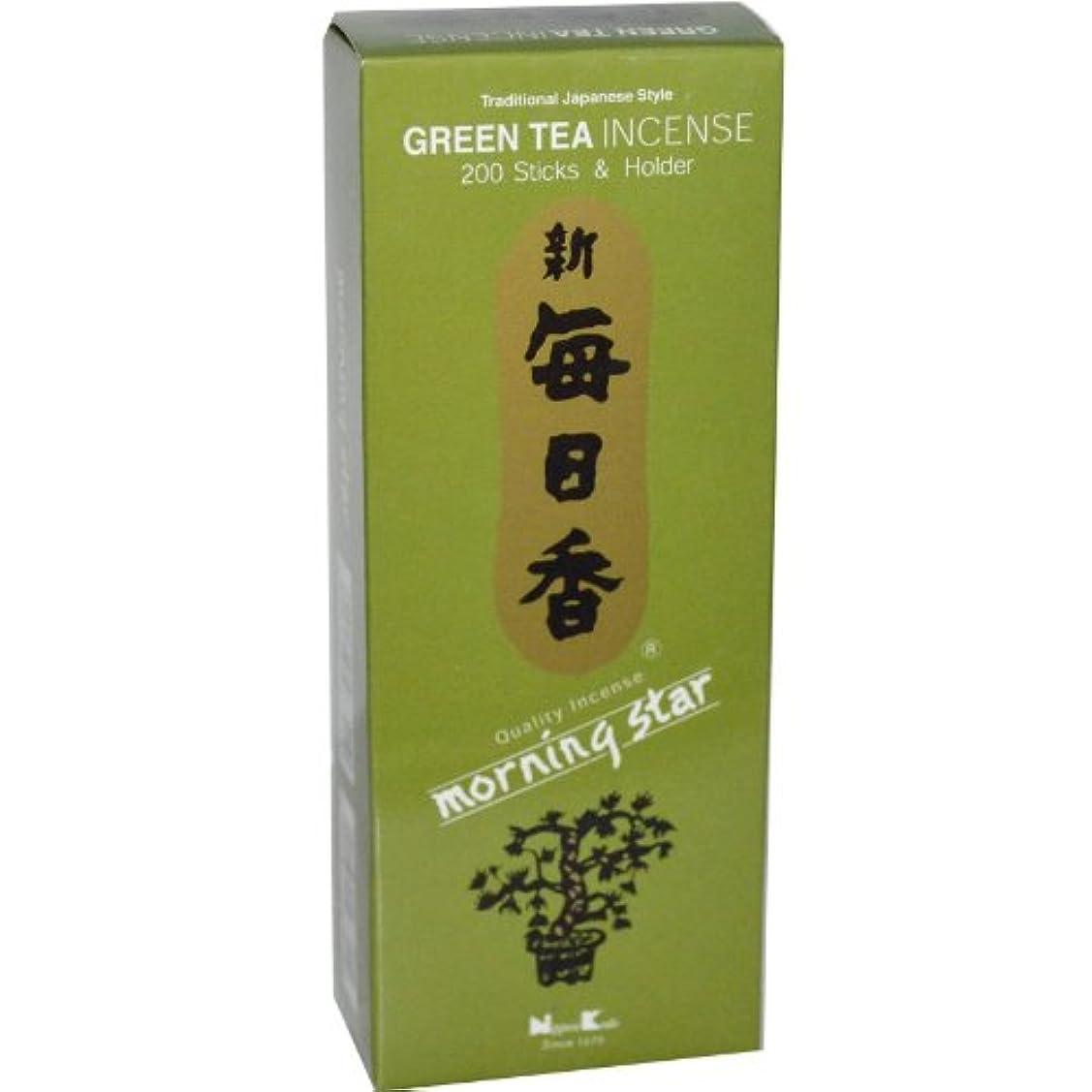 購入頬骨線形Nippon Kodo, Morning Star, Green Tea Incense, 200 Sticks & Holder