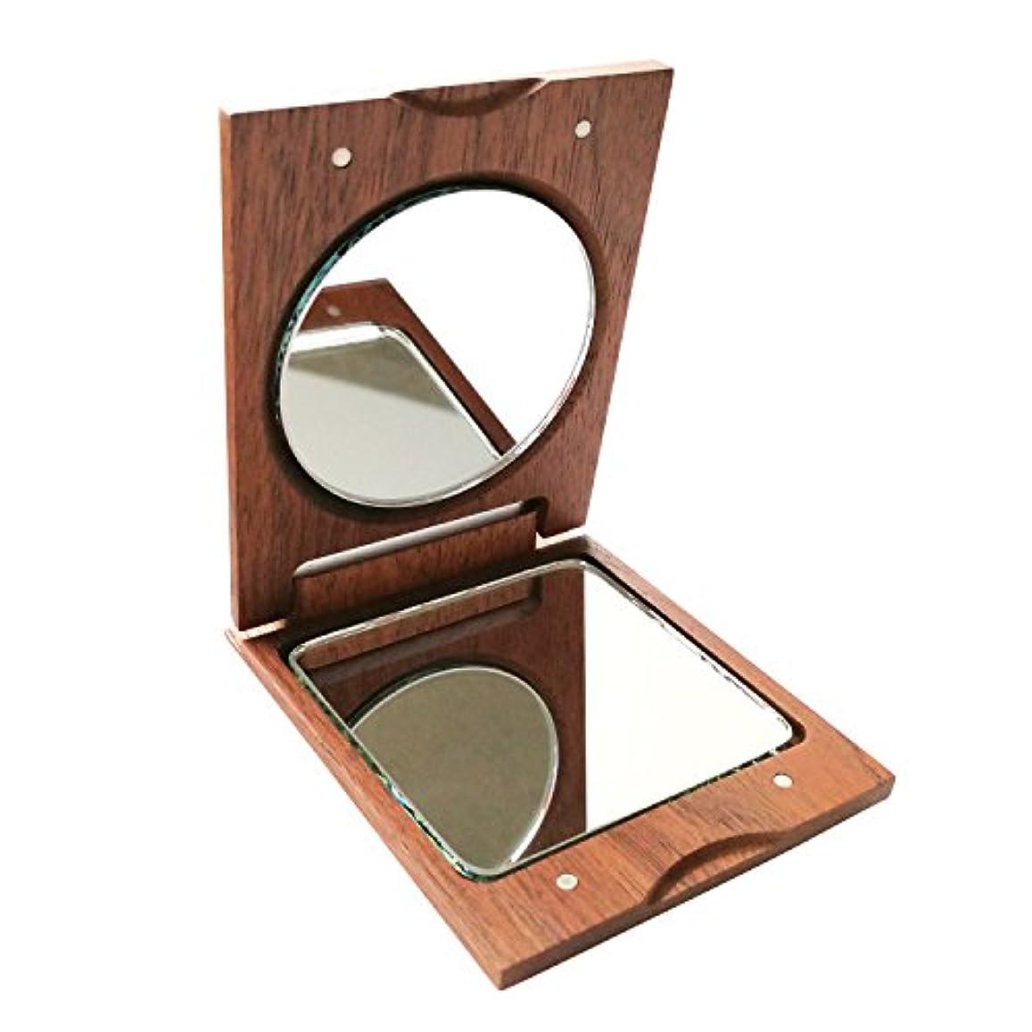 鉛筆疲れた占めるきざむ 名入れ 木製 手鏡 ハンドミラー ギフト