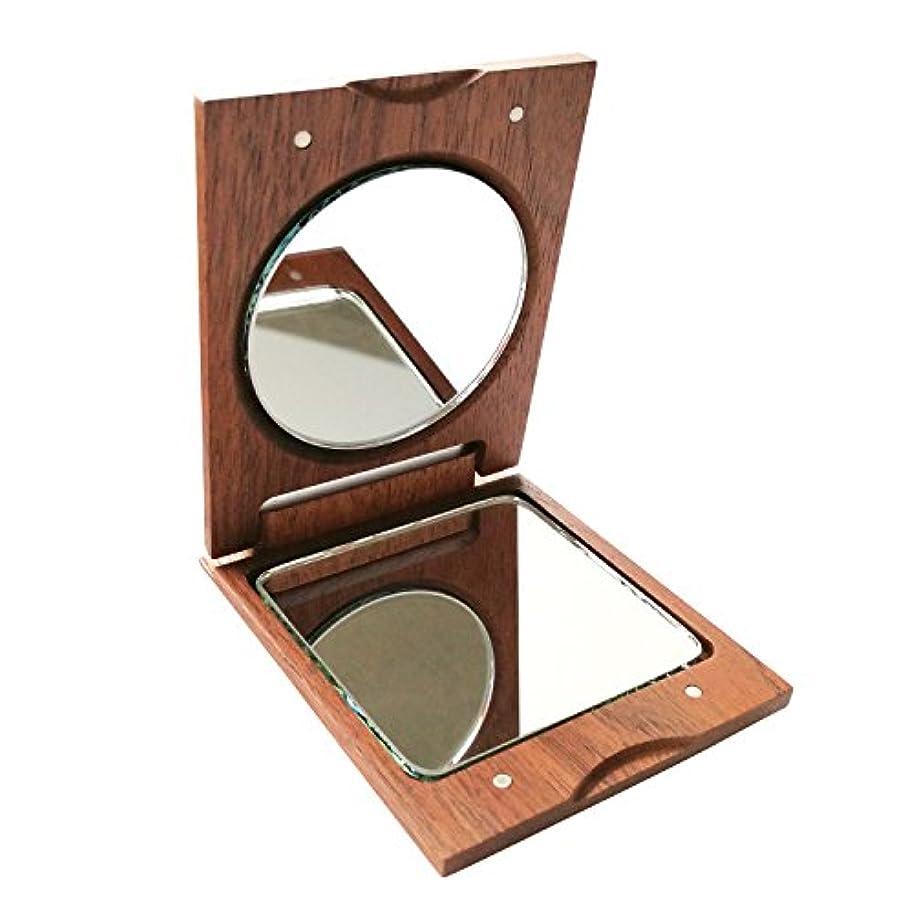 シリーズ巨大悪意きざむ 名入れ 木製 手鏡 ハンドミラー ギフト