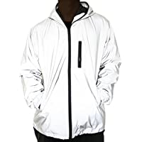 fangfei 3M Reflective Coat Hooded Windbreaker Fashion Runing Pocket Jacket