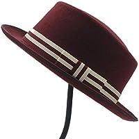2020 Womens Hats Caps Women Flat Homburg Fedpra Hat Winter Autumn Elegant Hat Wool Pork Pie Boater Hat with Punk Belt Tocados Invitada Boda Fashion Casual Soft Decoration