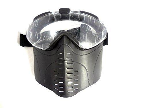 眼鏡対応 フェイスゴーグル フェイスマスク BK サバゲー ...