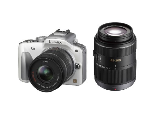 Panasonic ミラーレス一眼カメラ LUMIX G3 ダブルズームキット シェルホワイト DMC-G3W-W