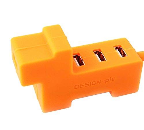 クリエイティブオレンジ犬のUSB HUB 4ポート高速コンピュータのUSBハ...