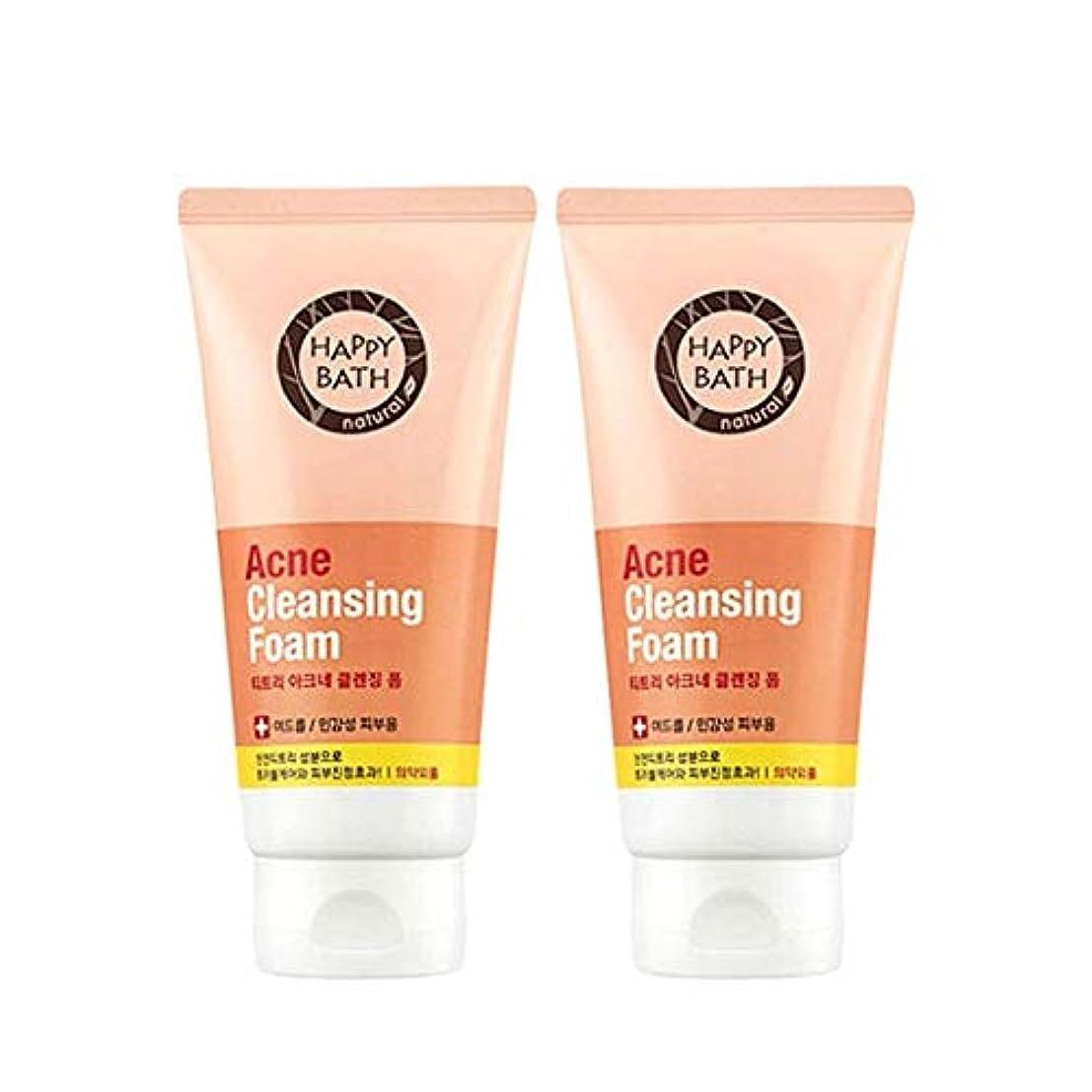 地下キネマティクス暗いハッピーバスティーツリーアクネクレンジングフォーム175gx2本セット韓国コスメ、Happy Bath Acne Cleansing Foam 175g x 2ea Set Korean Cosmetics [並行輸入品]