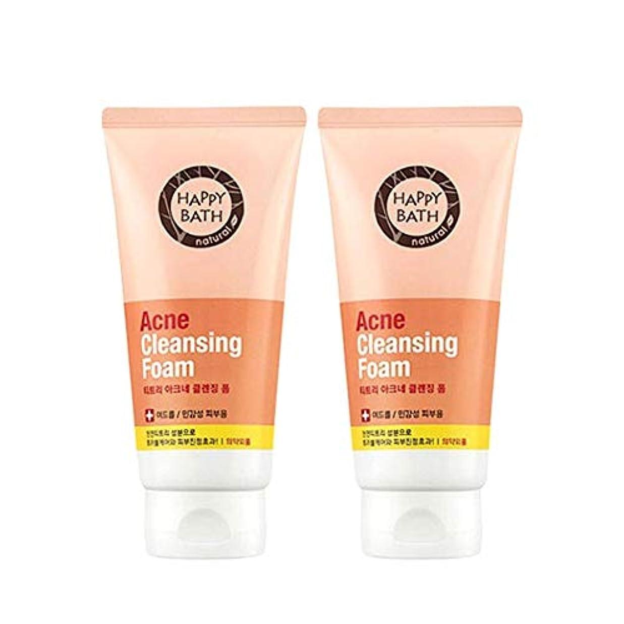 信頼性のある好意的プログラムハッピーバスティーツリーアクネクレンジングフォーム175gx2本セット韓国コスメ、Happy Bath Acne Cleansing Foam 175g x 2ea Set Korean Cosmetics [並行輸入品]