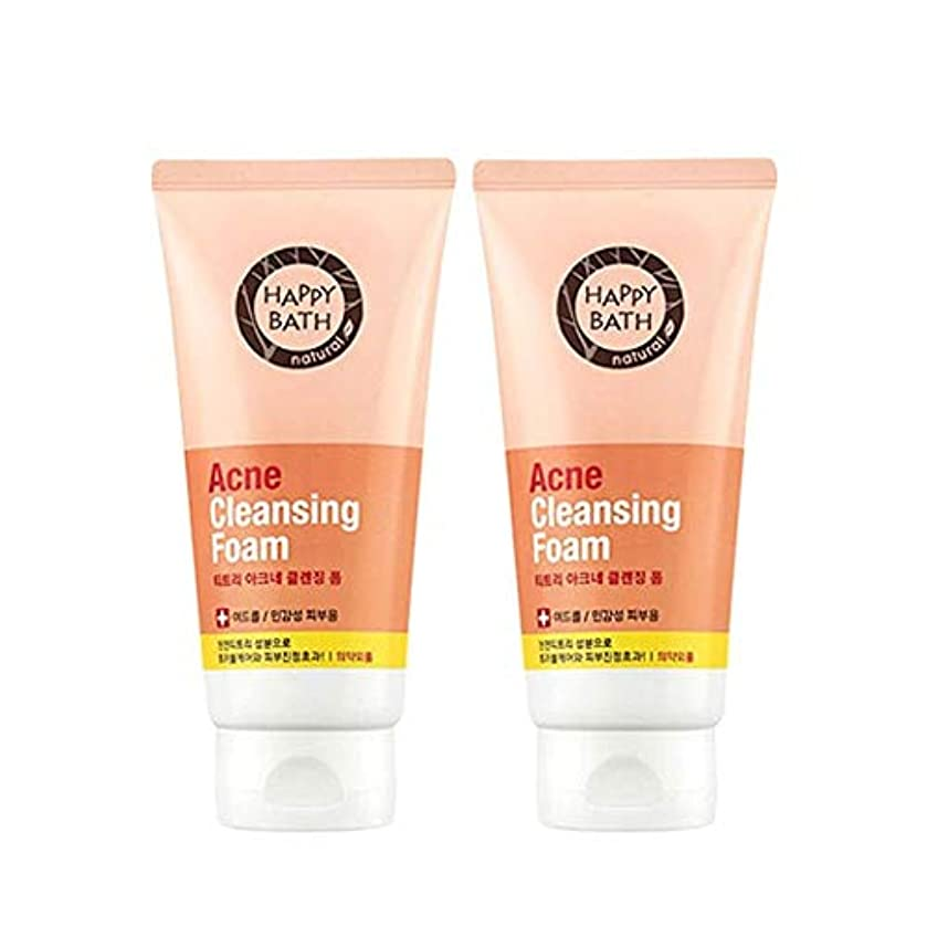 思い出させる最大化するアルバニーハッピーバスティーツリーアクネクレンジングフォーム175gx2本セット韓国コスメ、Happy Bath Acne Cleansing Foam 175g x 2ea Set Korean Cosmetics [並行輸入品]